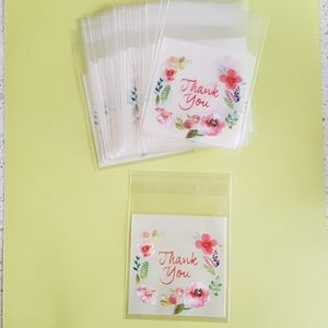 """25 pcs Thank You Clear Bags Threat Bags 2.76x2.76"""""""